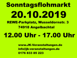 Sonntagsflohmarkt in Angelbachtal @ REWE Angelbachtal